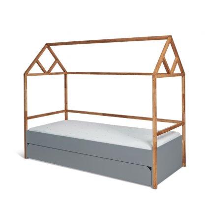 PROXIMA.store domčeková detská postel domček lotta sivá 1