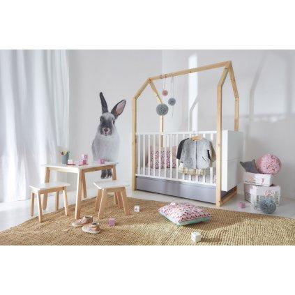 PROXIMA.store detska postel domček 70x140 pinette 3