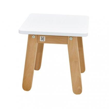PROXIMA.store detská stolička woody snehovo biela 2