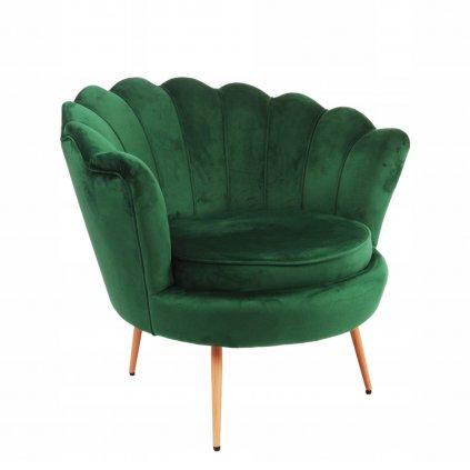 PROXIMA.store glamour kreslo zelená farba