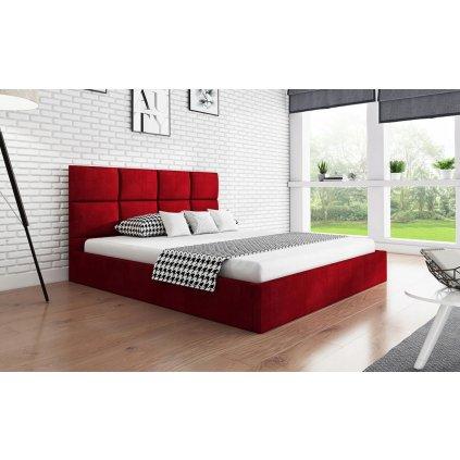 PROXIMA.store manzelska calunena postel na mieru SLIM 1 cervena