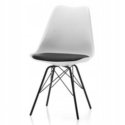PROXIMA.store dizajnove plastove stolicky DUBLIN STYLE bielo cierna 2