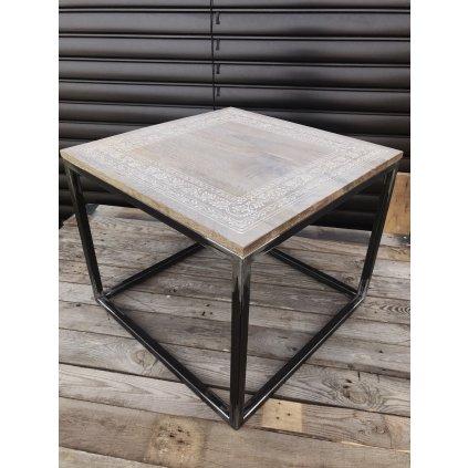 PROXIMA.store Industriálny konferenčný stolík s ornamentom