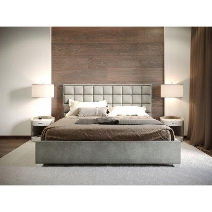 Manželská posteľ LUDWIG - Sivá - 160
