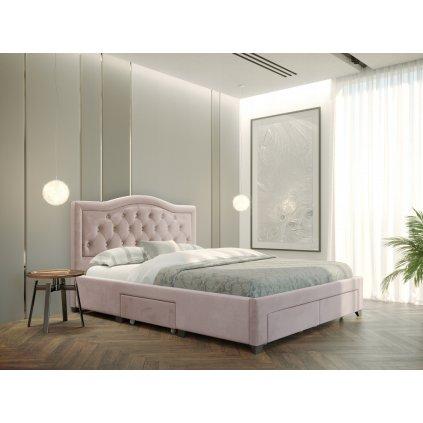 PROXIMA.store Manželská posteľ electra Ružová 3