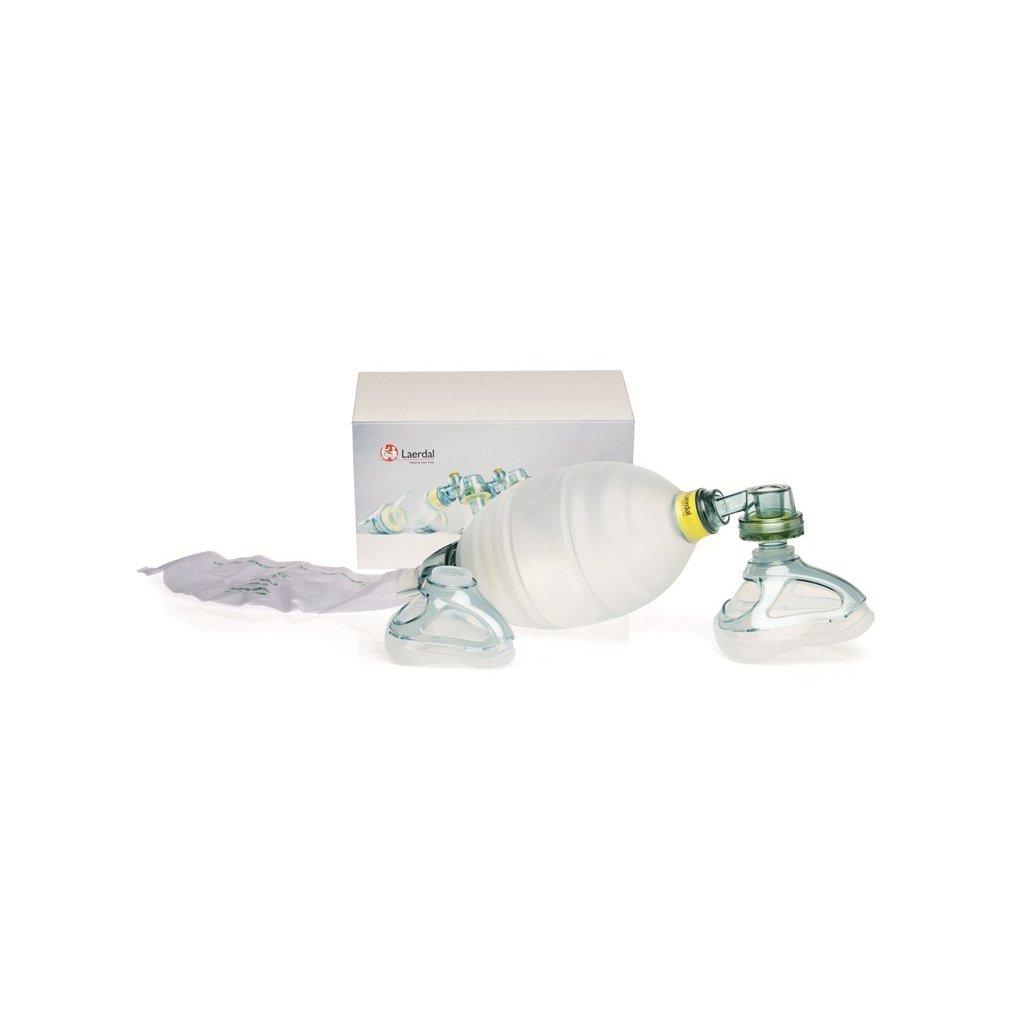 Laerdal silikonový dýchací vak s maskou a rezervoárem O2