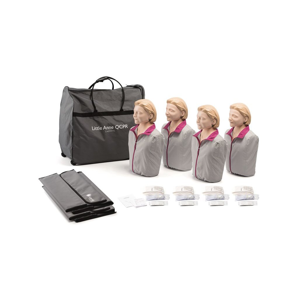 Laerdal Little Anne QCPR resuscitační figurína, 4 ks