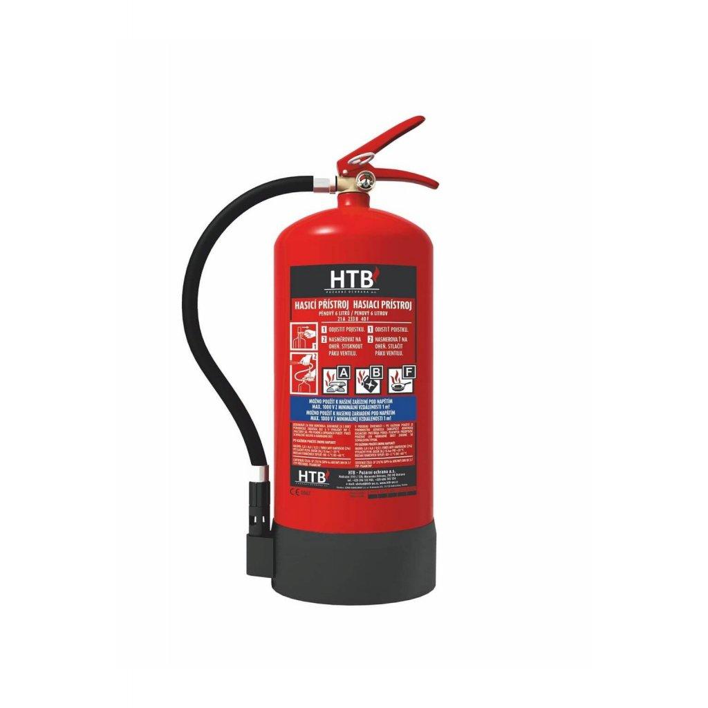 16784 hasici pristroj penovy htb pe6 ab mp 21a 183b vcetne revizni zpravy