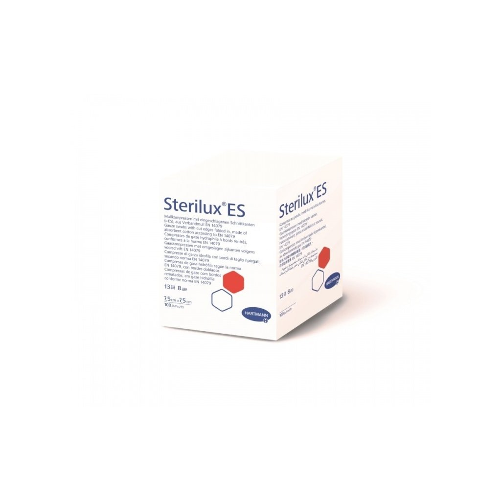 Hartmann Sterilux ES, nesterilní, 13/8, 7,5 x 7,5 cm, 100 ks