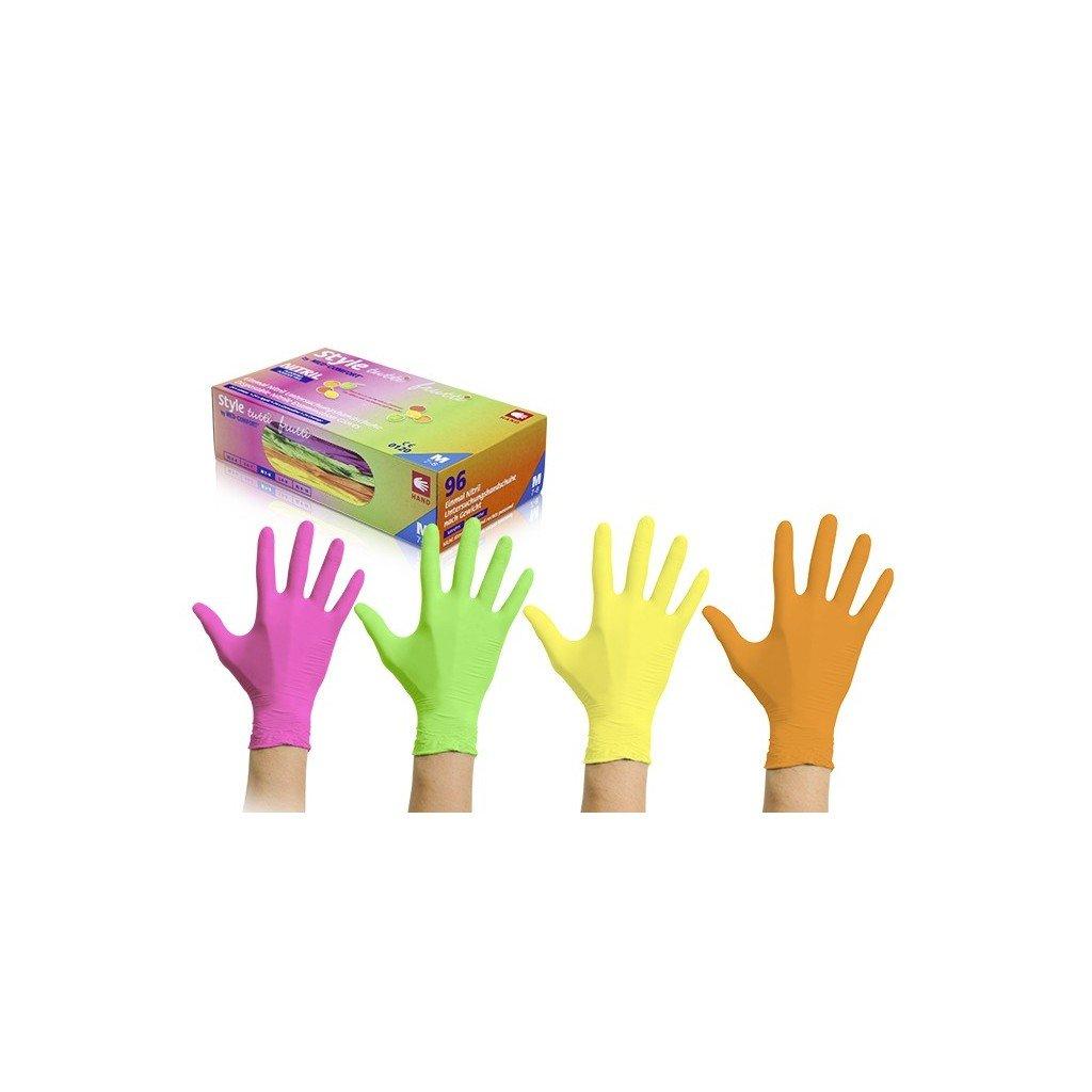 vysetrovaci rukavice style nitril nepudrovane tutti frutti 96 ks 3264