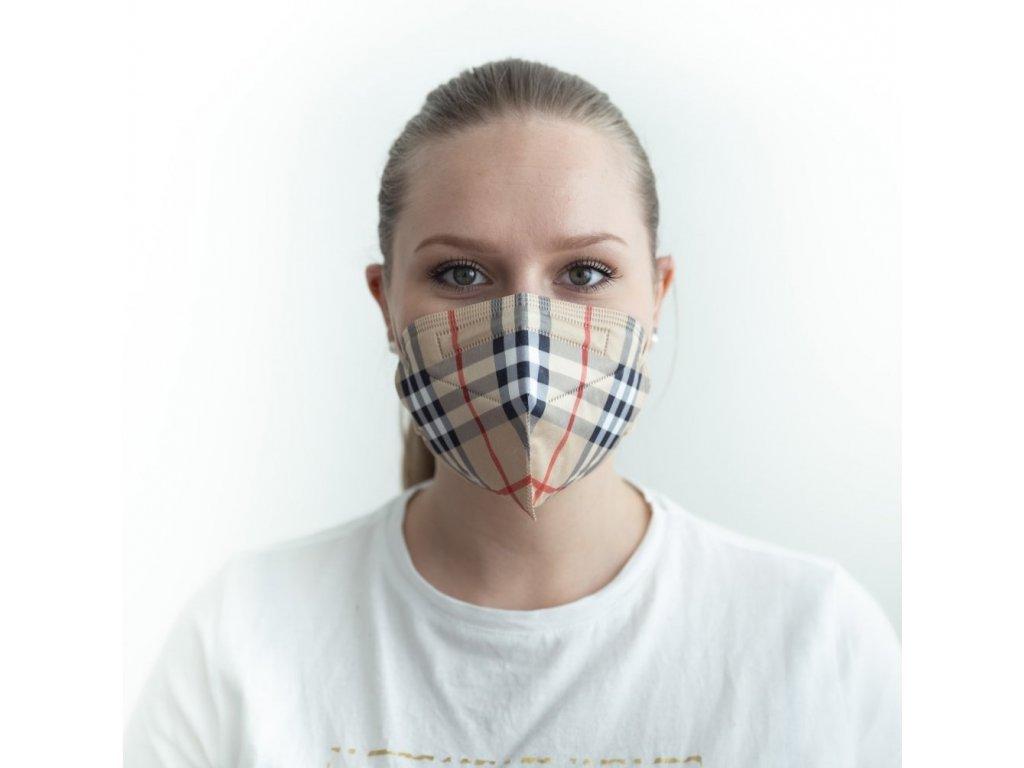 Zdravotnický nano respirátor BALERINA FFP2 PFHM731 burberr 2