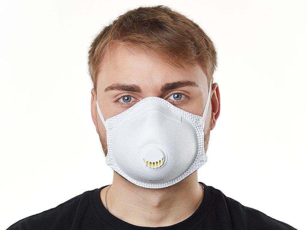 20x Prémiový respirátor FFP3 Bílý s ventilem (78 KČ/Ks)