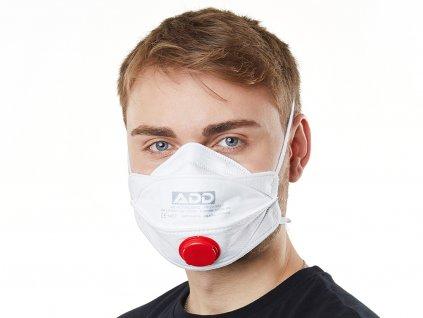 Respirátor FFP3 s ventilem (30ks)