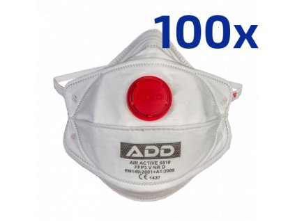 Respirátor FFP3 s ventilem (100ks)