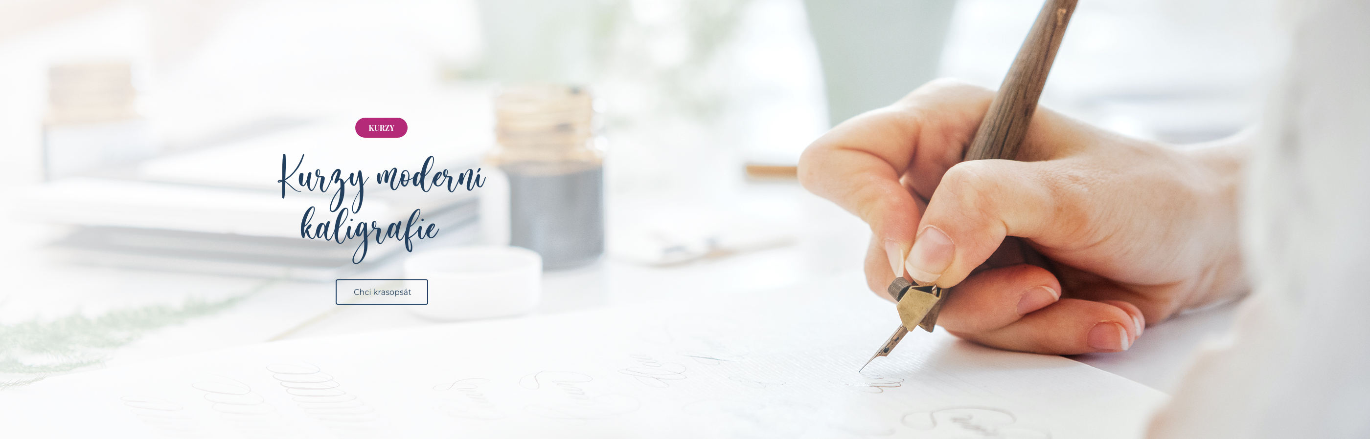 Kurzy moderní kaligrafie pro začátečníky i pokročilé