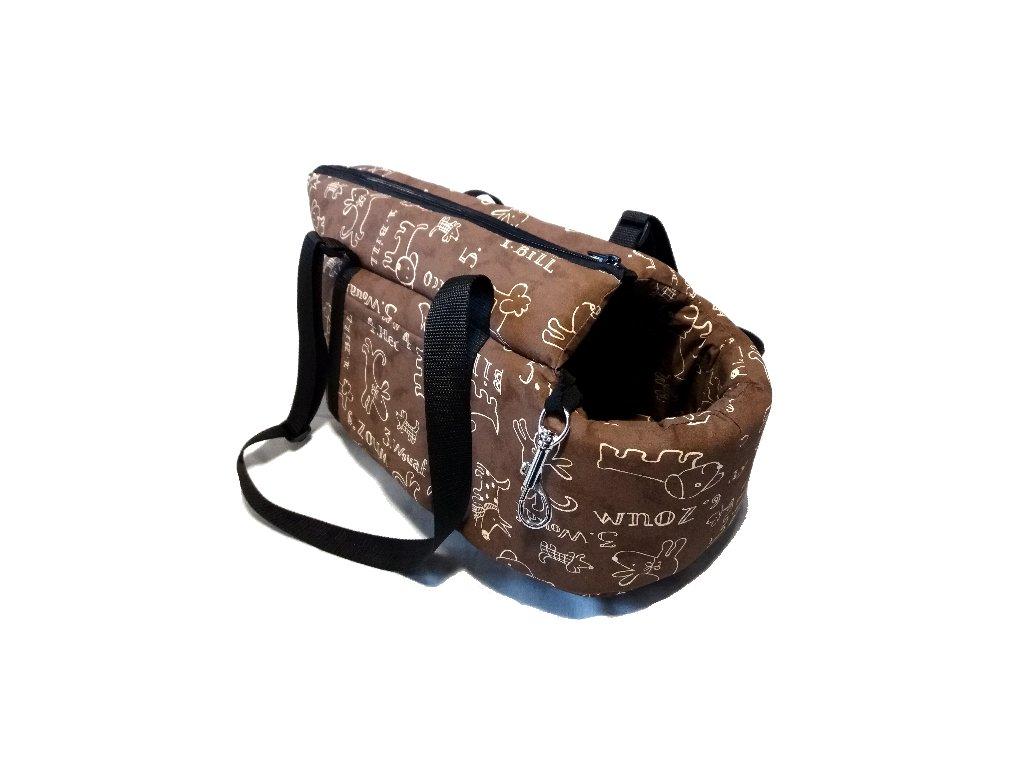 taška bavlna 30 331108 hnědý pejsek rocco hector bill