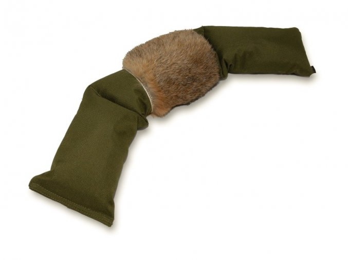 Firedog 3-part dummy 4kg khaki rabbit fur