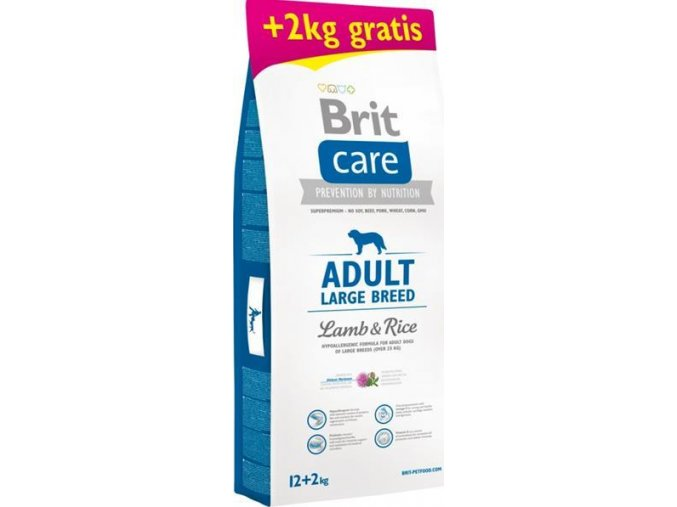 Brit Care Dog Adult Large Breed Lamb & Rice 12 + 2kg  Ke 12kg ti dám 2kg ZDARMA!
