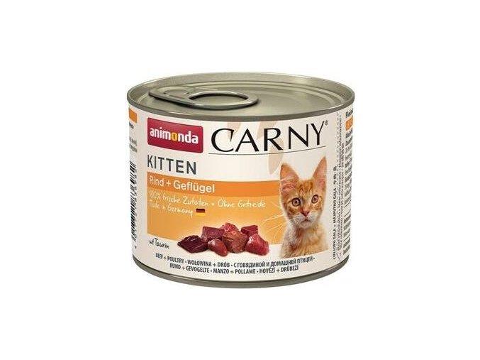 ANIMONDA konzerva CARNY Kitten - telecí, kuřecí 200g