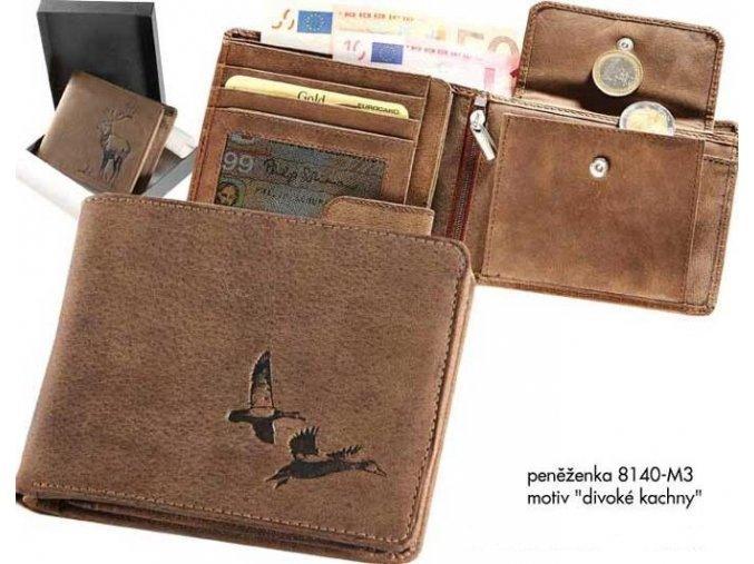"""Myslivecká peněženka 40   -motiv """"divoké kachny"""""""
