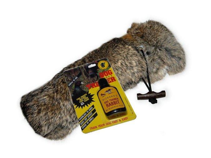 "Firedog dummy rabbit ""full fur"" 500g  small mouth+ Pach zajíce 35ml"