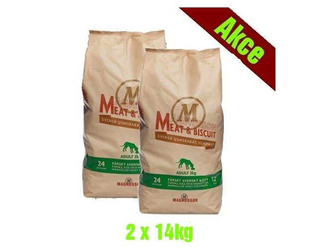 Magnusson Meat Biscuit ADULT 2x14kg