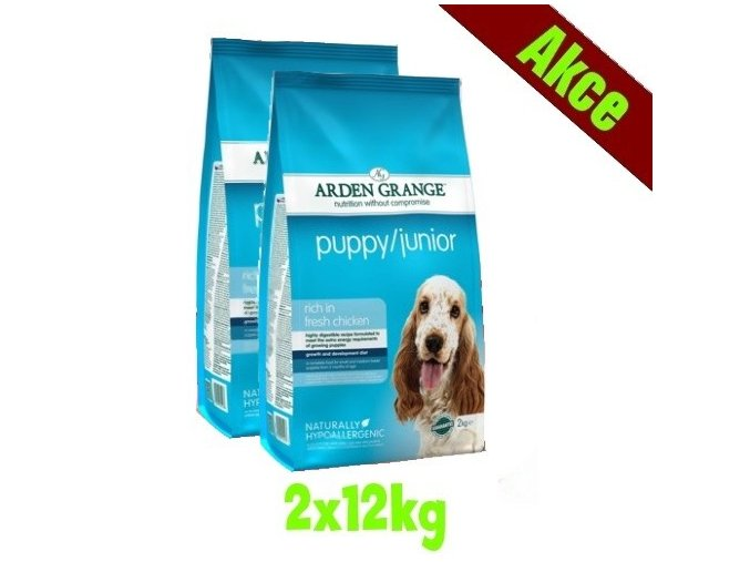 Arden Grange Puppy/Junior 2x12 kg