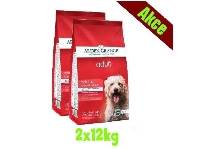 Arden Grange Adult with fresh chicken & rice 2x12 kg