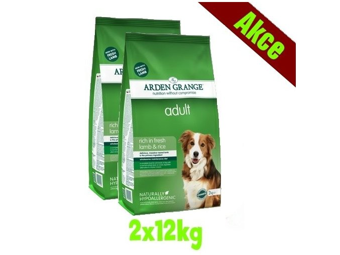 Arden Grange Adult rich in lamb & rice 2x12 kg