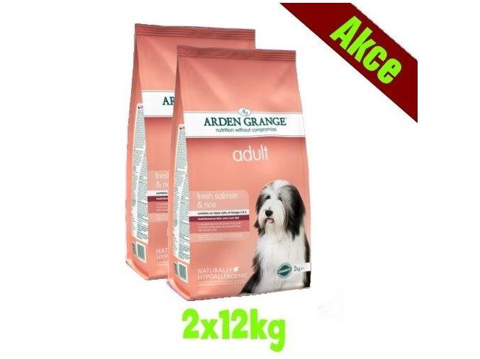 Arden Grange Adult rich in fresh salmon & rice 2x12 kg
