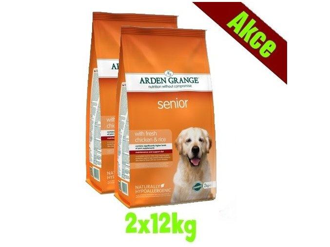 Arden Grange Senior with fresh chicken & rice 2x12 kg