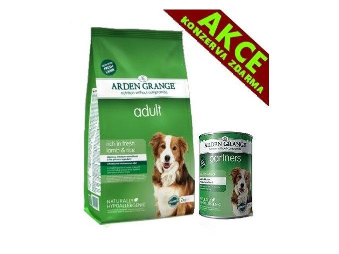 Arden Grange Adult rich in lamb & rice 12 + KONZERVA ZDARMA kg