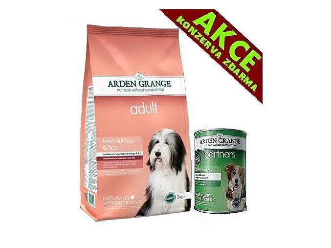 Arden Grange Adult rich in fresh salmon & rice 12 kg + KONZERVA ZDARMA