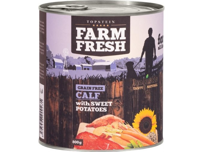 Farm Fresh Calf & Sweet Potato  400g