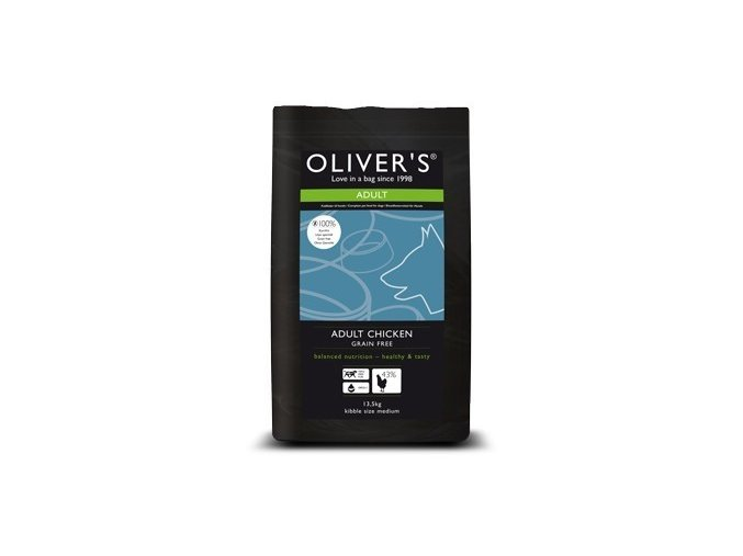 Oliver's Adult Chicken Grain Free small 4 kg