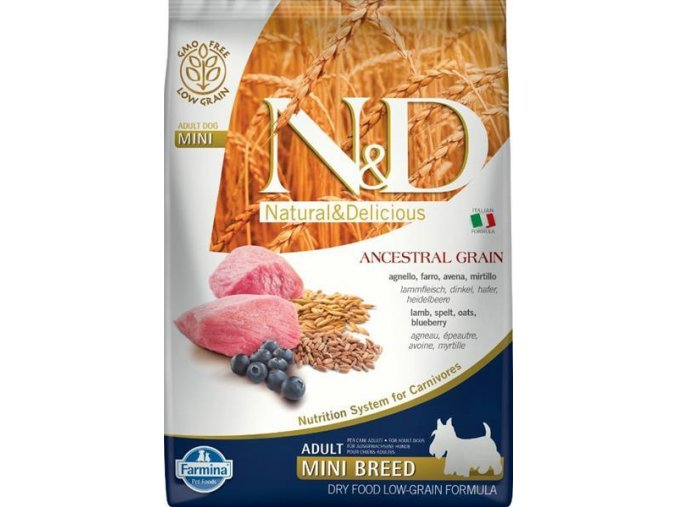 N&D Low Grain DOG Adult Mini Lamb & Blueberry 7kg