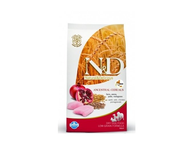 N&D Low Grain DOG Adult Maxi Chicken & Pomegranat 2,5kg