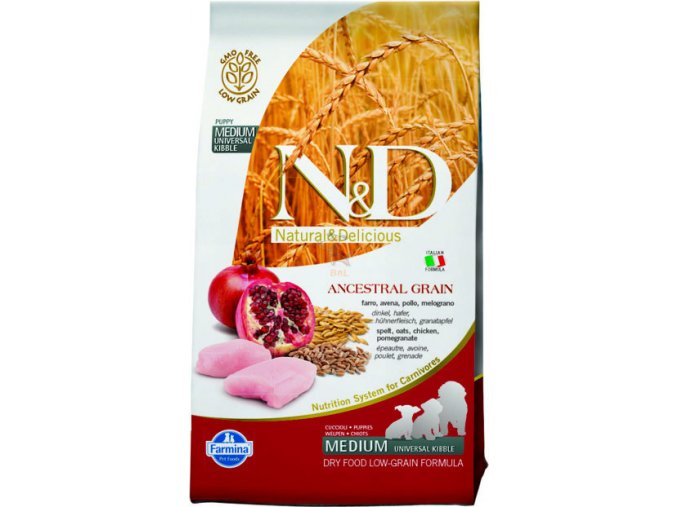 N&D Low Grain DOG Puppy Chicken & Pomegranate 2,5kg