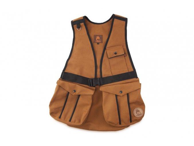 Firedog Dummy vesta Hunter světle hnědá - bavlna