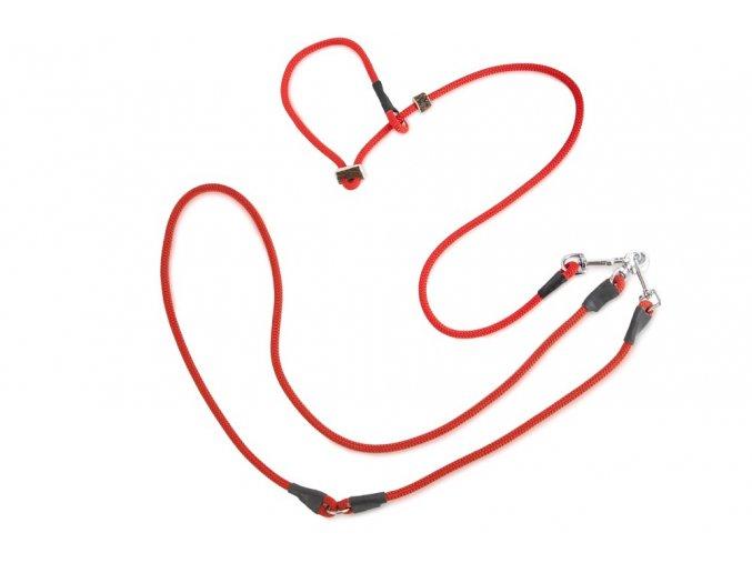 Firedog Lovecké vodítko 8mm moxon se zarážkou červené
