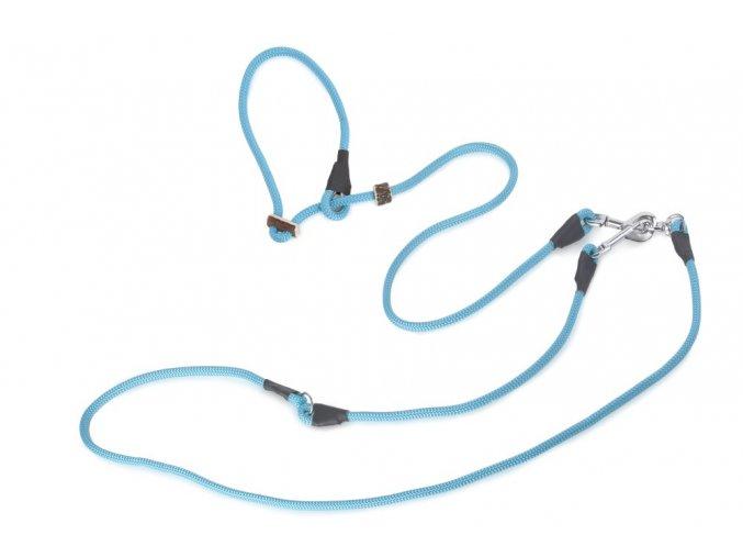 Firedog Lovecké vodítko 8mm moxon se zarážkou světle modré