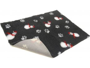 vetbed non slip charcoal with snowmen 38299