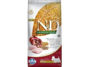 N&D Low Grain DOG Adult Mini Chicken & Pomegr 7kg