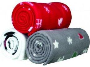 Flísová vánoční deka YUKI 100x70 - 3 barvy