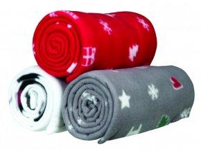 Flísová vánoční deka YUKI 100x150 - 3 barvy