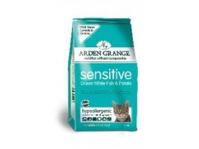 Arden Grange Adult Cat Sensitive Ocean White Fish & Potato 400g EXP 9/18