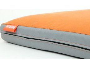 Matrace Aminela - 100x70x10cm Half and Half šedá/oranžová