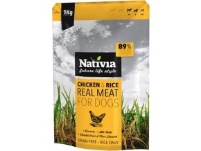 Nativia Real Meat Chicken&Rice 1kg