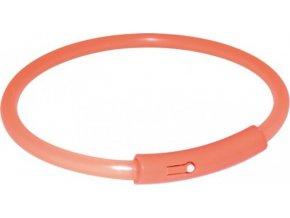 Light Band oranžový blikací obojek 50cm (L)