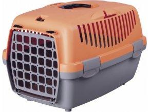 Transportní box CAPRI I. 32x31x48cm max.do 6kg - světle šedá/lo